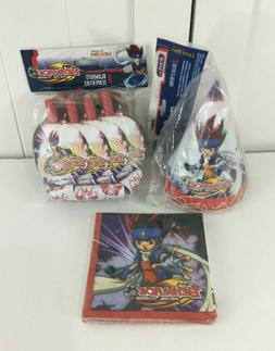 BEYBLADE Metal Fusion PARTY SUPPLY LOT - 8 Hats, 8 Blowouts