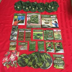 CAMOUFLAGE PARTY SUPPLIES  TOYS AND GAMES  ARMY