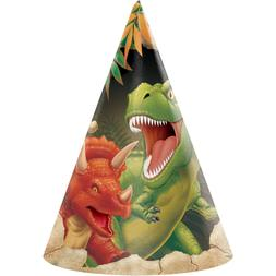 Dinosaur Party Hats, 24 Count
