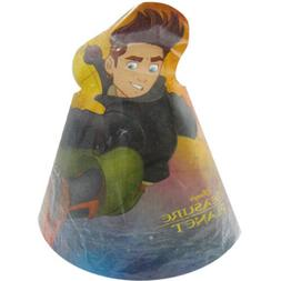 DISNEY- TREASURE PLANET PACK OF 8 PARTY CONE HATS- NEW-RARE