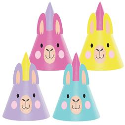Llama Party Party Hats, 24 Count