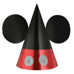 Mickey Mouse Forever Foil Cone Party Hats ~8ct. Birthday Dec