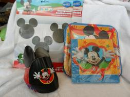 Disney MIckey Mouse party decorations - plates, napkins, hat