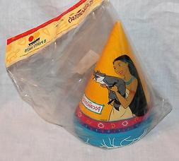 NEW  POCAHONTAS 8 PARTY HATS   PARTY SUPPLIES