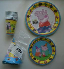 Peppa Pig Party Item Supplies Plates Cups Hats