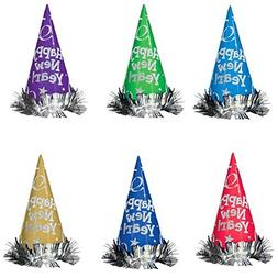 """Amscan Rocking New Year's Party Metallic Glitter Hats , 9"""","""