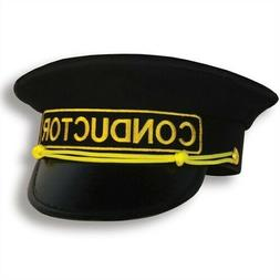 Train Conductor Hat Adult Size Fits Most Costume Prop Trains